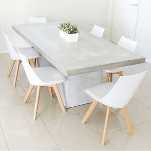 The Harmony 2100 X 1000 Concrete Dining Table