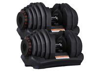 *Free Delivery* Brand New Adjustable Dumbbells 40KG (80kg total) (unopened box)