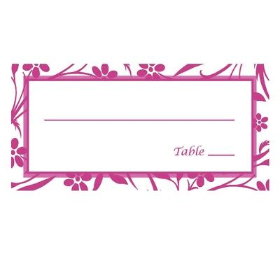 Table Seating Cards (Reception Seating Table Cards Pink - Qty)