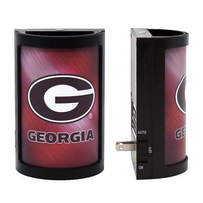NCAA Georgia Bulldogs PLUG-IN LED Night Light Party Animal with Light Sensor Georgia Bulldogs Red Light