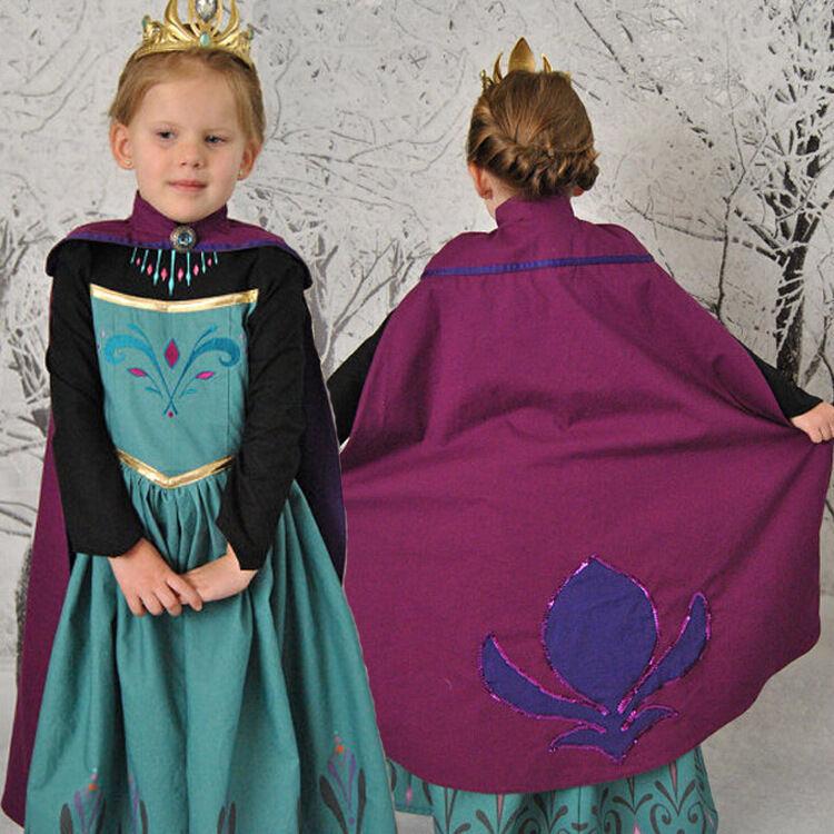 Princess Anna Elsa Queen Girls Cosplay Costume Party Formal Dress Elsa #2