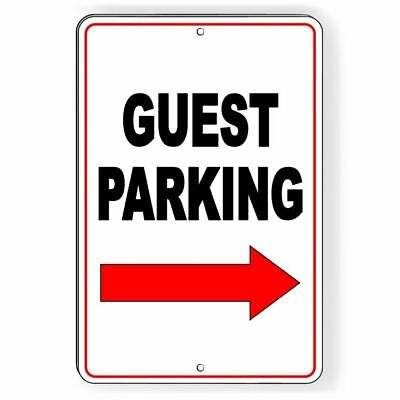 Guest Parking Sign Arrow Right METAL visitor club do not no parking best -