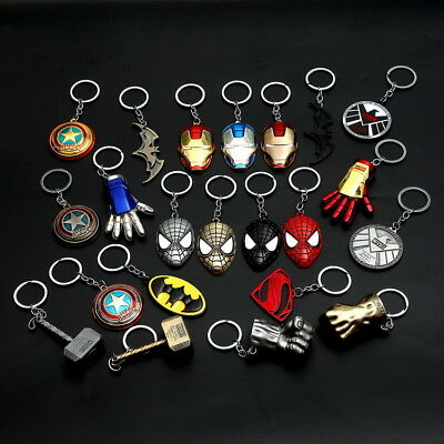 (Marvel DC The Avengers Loki Metal Keychain Car Key Chain Keyring for Collection)
