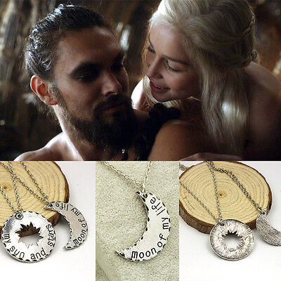 Free Shipping Game of thrones inspired khal & Khaleesi two Necklaces set