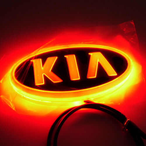 4D Car LED Real Logo Light Auto Badge Rear Emblem Lamp For KIA SOUL Forte CERATO