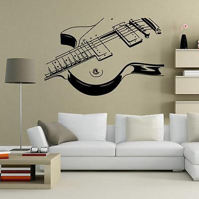 Home Decor Giraffe GUITAR Music Wall Art Decal Decor Vinyl Dance Musical Mural Sticker 36