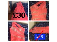 Brand new hot pink prom dress size 10-12