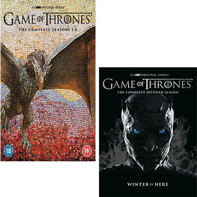 Game Of Thrones The Complete Season 1-7 New & Sealed 1 2 3 4 5 6 7 DVD Boxset UK