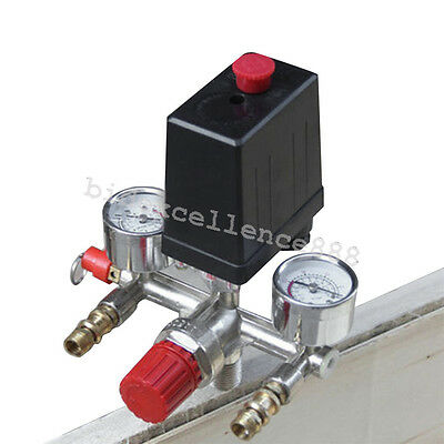 Usa Air Compressor Pressure Control Switch Valve Manifold Regulator W Gauges