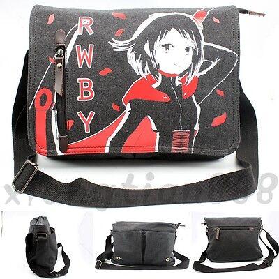 Anime Rwby Ruby Rose Canvas Shoulder Bag Satchel Handbag Travel Study School Bag