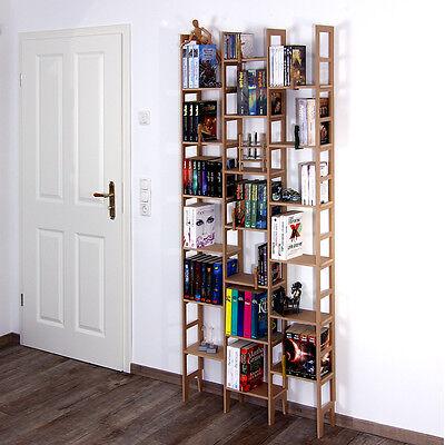 Ein Regal Bücherregal (Bücherregal aus Holz für 5 Meter Buecher eine REGAflex IDEE erweiterbar)