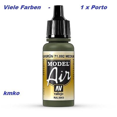 Vallejo Model Air MA 092 71092 Olivgrün RAL6003 17ml 27,06 €/100ml