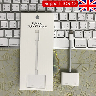 Lightning to HDMI Digital TV AV Adapter Cable For Apple iPad iPhone 11 X 8 7 6