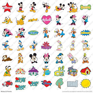 Cricut Mickey and Friends Disney Cartridge Die Cut World Minnie Goofy Pluto Duck