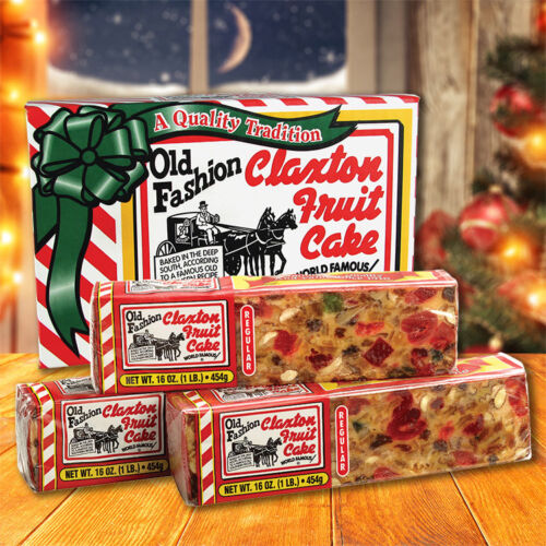 Claxton Fruit Cake 3-1 Lb. REGULAR - Shipped Direct From Claxton Bakery, Inc.