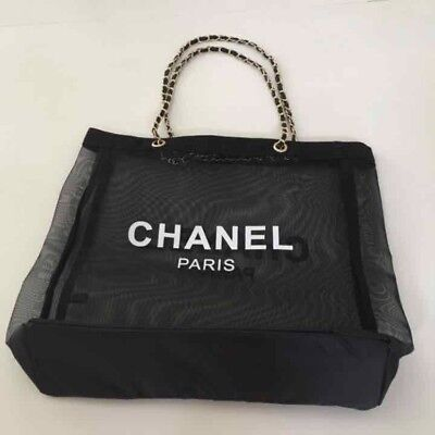 New Chanel Vip Mesh Tote Bag Gold Chain