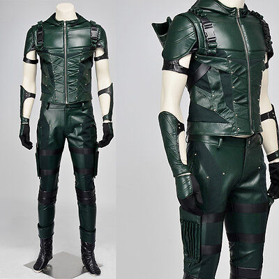 2016 Green Arrow Season 4 Oliver Queen Outfit Cosplay Costume Halloween Clothing - Halloween Costumes Green Arrow