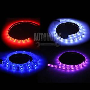 4X-30CM-12V-3528SMD-Flexible-Waterproof-LED-Strip-Light-Car-Boat-Caravan-Marine