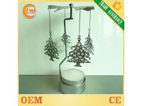 wholesale metal Christmas tree candle holder