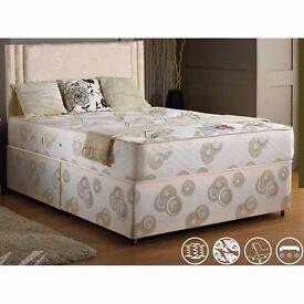 "BRAND NEW 12"" Luxury Super Orthopedic Kingsize Bed, Mattress- HEADBOARD DRAWER"