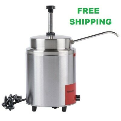 3.5 Qt. Electric Countertop Nacho Cheese Sauce Warmer Pump Dispenser Resto 120v