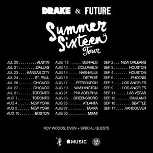 DRAKE / FUTURE - 2 TICKETS - Toronto ACC July 31
