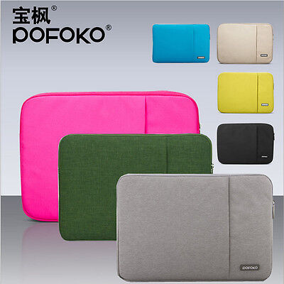 Laptop soft waterproof sleeve carry case bag pouch For macbo