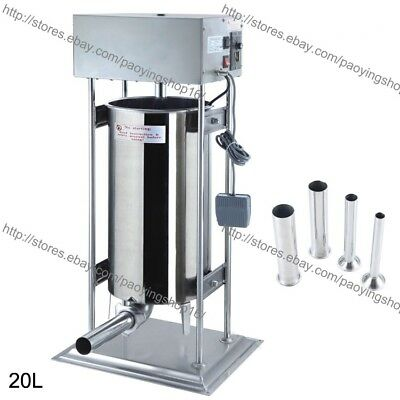 20l Electric Auto Sausage Stuffer Sausage Filler Sausage Salami Machine Maker