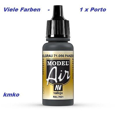 Vallejo Model Air MA 056 71056 Panzer Dark Grey RAL7021 17ml 27,06 €/100ml