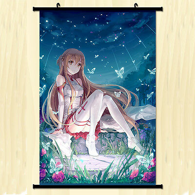 Wall Scroll Anime Poster Sword Art online Yuuki Asuna Home Decor 40*60cm