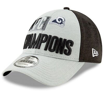 new arrival 27f0b 0207d NFL Los Angeles Rams New Era NFC West Division Champs 9FORTY Adjustable Hat -Gray