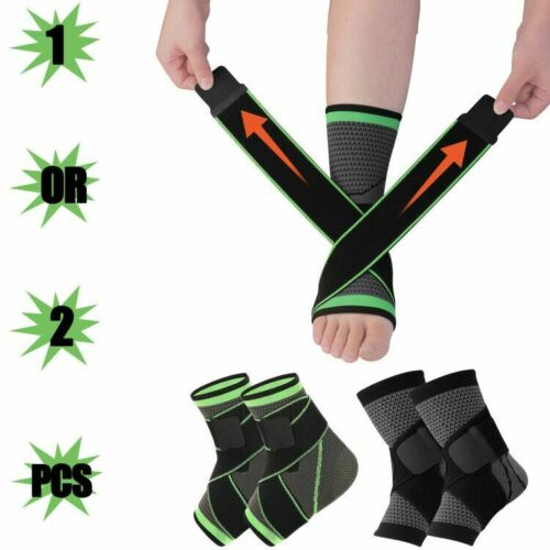 Ankle Brace Support Compression Sleeve Plantar Fasciitis Pain Relief Foot Wrap S