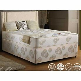 "◄◄ Cheapest Guaranteed ►► New 4FT6, 4FT or 5FT Divan Bed w Dual-Sided 13"" Super Orthopaedic Mattress"