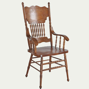 Oak Wood Carved Chair