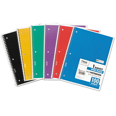 Mead Spiral Bound Notebook Perforated Legal Rule 10 12 X 8 White 100 Sheets