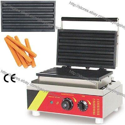 Commercial Nonstick Electric 5pcs Spanish Donut Machine Churros Baker Maker Iron