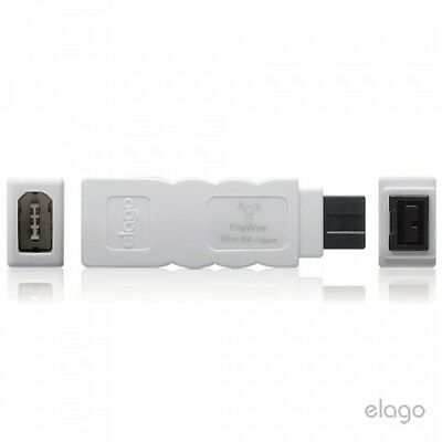 elago FireWire 400 to 800 Adapter (White) for Mac Pro, MacBook Pro, Mac Mini,