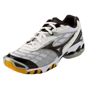 Mizuno-Wave-Lightning-RX-Mens-Volleyball-Shoes-NIB-White-Black-Various-Sizes