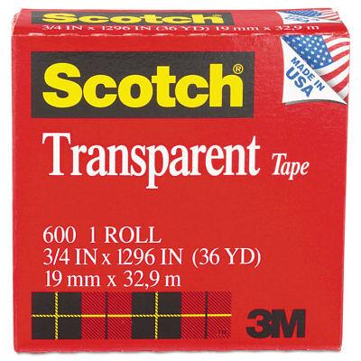 Scotch Transparent Tape 34 X 1296 1 Core Clear 600341296