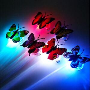 10x Butterfly LED Night Light Lamp 7 Color Changing Luminous Beautiful  decor