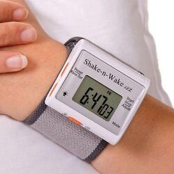 Shake n Wake Silent and Vibrating Travel Alarm Clock Wrist Watch Deaf Aid
