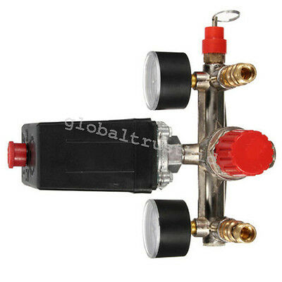 Aair Compressor Pressure Control Switch Valve Manifold Regulator Gauges Relief