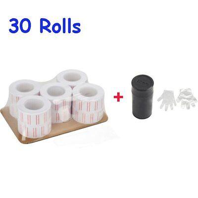 30 Rolls Self-adhesive Mx-5500 Gun Label Price Labels Mark Sticker White Ink
