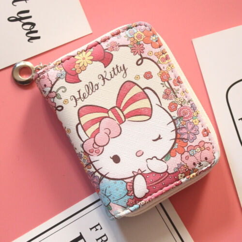 Hello kitty wallet purse pink lovely gift present cards Japan hand bag nice