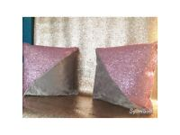 Glitter cushions 12inch £15 each or 2 for 25
