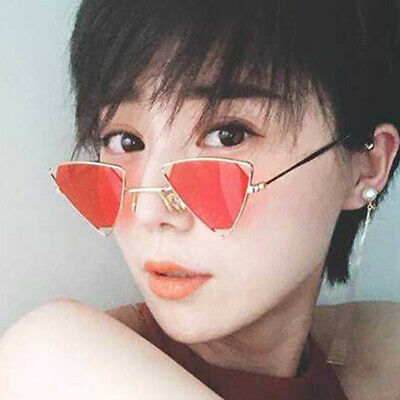 Triangle Stylish Sunglasses Fashion Womens Shades Metal (Triangle Shades Glasses)