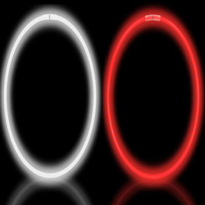100 Glow Necklaces Kit (Pack of 50 Red & 50 White) Glow Party Necklaces
