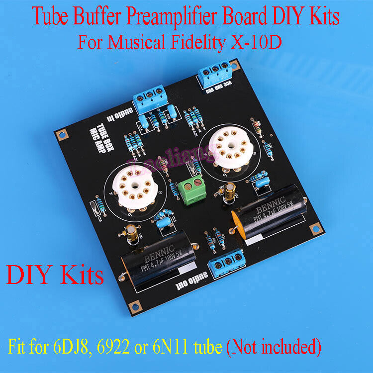 1set ECC88//6922//6DJ8 6N11 tube buffer preamp for MUSICAL FIDELITY X10d  PCB kits