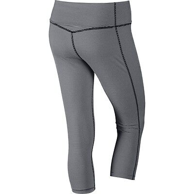 Nike 642530 Women's Legend 2.0 Capri Tight Fit Pants Fold-over ...