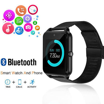 Bluetooth Smart Wrist Watch Steel Band Phone Mate for iPhone 6S 7 8 X XR XS MAX Band Touch Screen Phone